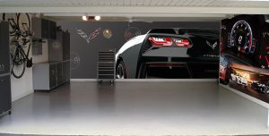 garage graphix - corvette garage theme