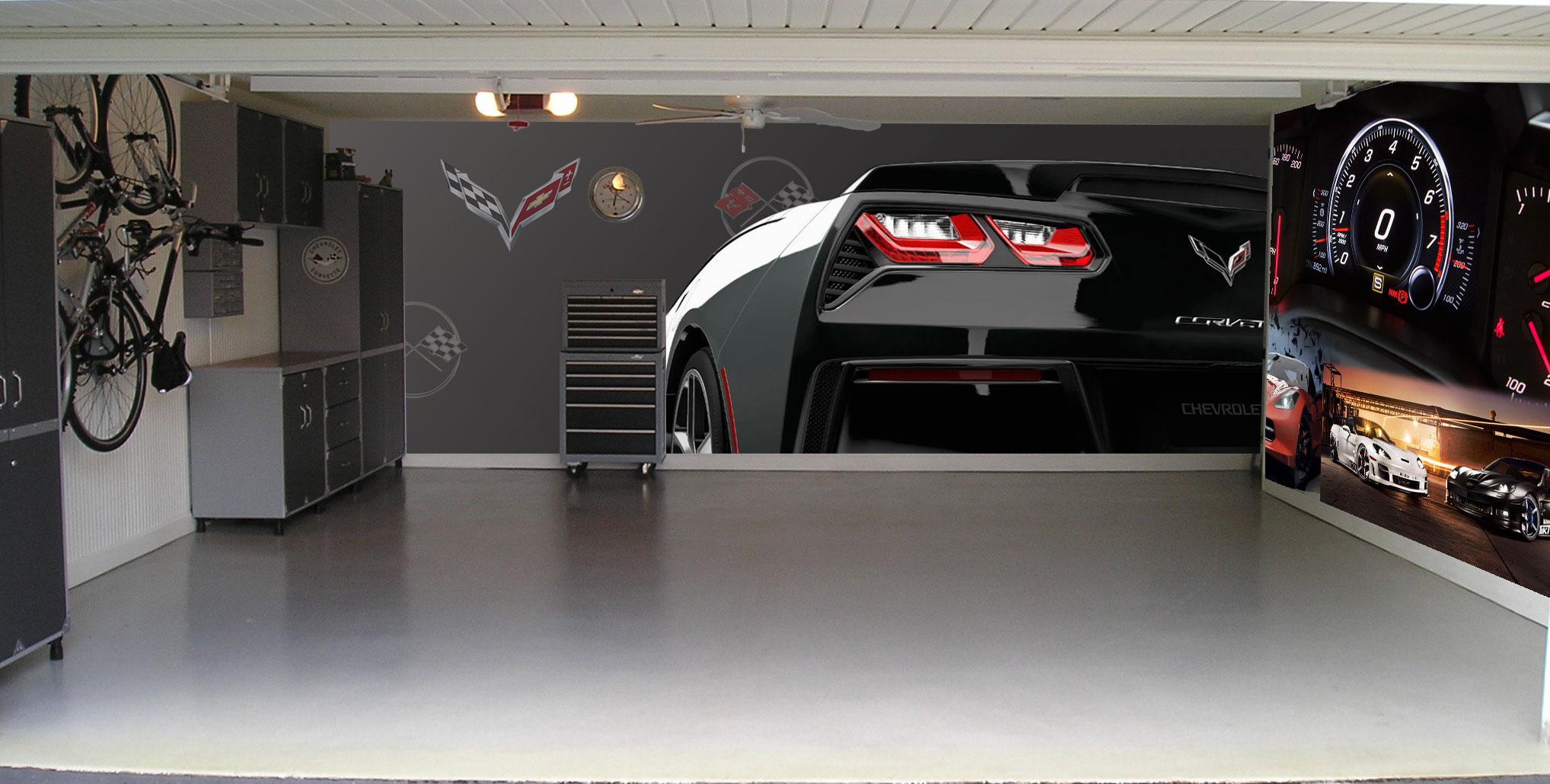 corvette garage theme